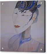 Asian Mask Acrylic Print by Marian Hebert
