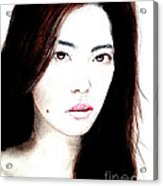 Asian Model II Acrylic Print by Jim Fitzpatrick
