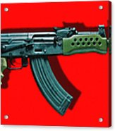Assault Rifle Pop Art - 20130120 - V1 Acrylic Print by Wingsdomain Art and Photography