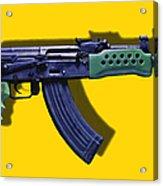 Assault Rifle Pop Art - 20130120 - V2 Acrylic Print by Wingsdomain Art and Photography