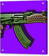 Assault Rifle Pop Art - 20130120 - V4 Acrylic Print by Wingsdomain Art and Photography