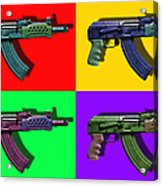 Assault Rifle Pop Art Four - 20130120 Acrylic Print by Wingsdomain Art and Photography