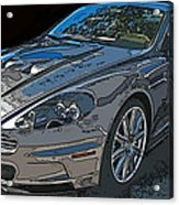 Aston Martin Db S Coupe 3/4 Front View Acrylic Print by Samuel Sheats