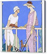 At Polo Acrylic Print by Georges Barbier