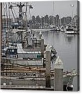 At The Dock Acrylic Print by Amanda Barcon