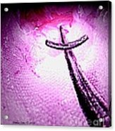 At The Foot Of The Cross Acrylic Print by Annie Zeno