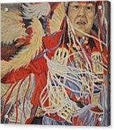 At The Powwow Acrylic Print by Wanda Dansereau
