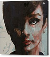Audrey Hepburn  Acrylic Print by Paul Lovering