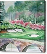 Augusta National 12th Hole Acrylic Print by Deborah Ronglien