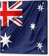 Australian Flag Acrylic Print by Les Cunliffe