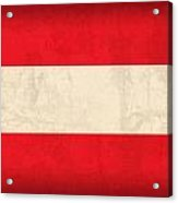Austria Flag Vintage Distressed Finish Acrylic Print by Design Turnpike
