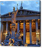 Austrian Parliament Building Acrylic Print by Mariola Bitner