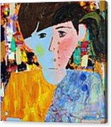 Autism - Child And Mother Acrylic Print by Carmencita Balagtas