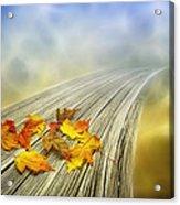 Autumn Bridge Acrylic Print by Veikko Suikkanen