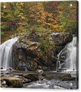 Autumn Cascades Acrylic Print by Debra and Dave Vanderlaan