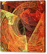Autumn Chaos Acrylic Print by Andee Design