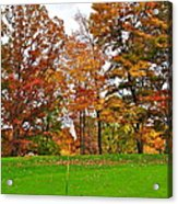 Autumn Golf Acrylic Print by Frozen in Time Fine Art Photography