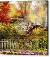 Autumn - House - On The Way To Grandma's House Acrylic Print by Mike Savad