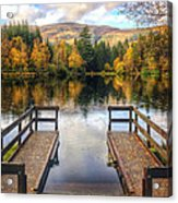 Autumn In Glencoe Lochan Acrylic Print by Dave Bowman