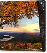 Autumn Lake Acrylic Print by Debra and Dave Vanderlaan