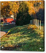Autumn Road Morning Acrylic Print by Bill Wakeley