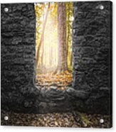 Autumn Within Long Pond Ironworks - Historical Ruins Acrylic Print by Gary Heller