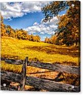 Autumns Pasture Acrylic Print by Bob Orsillo