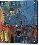 Avenue De Clichy Paris Acrylic Print by Louis Anquetin