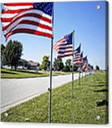 Avenue Of The Flags Acrylic Print by Cricket Hackmann