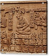 Aztec Woodcarving Tablets Acrylic Print by Viktor Savchenko