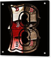B For Bosox - Vintage Boston Poster Acrylic Print by Joann Vitali