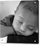 Baby Sleeps Acrylic Print by Lisa Phillips