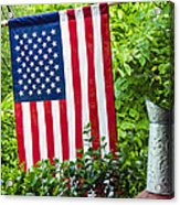 Back Porch Americana Acrylic Print by Carolyn Marshall