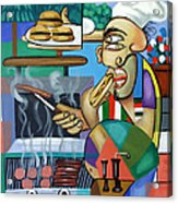 Backyard Chef Acrylic Print by Anthony Falbo