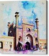 Badshahi Mosque Gate Acrylic Print by Catf
