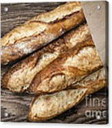 Baguettes Bread Acrylic Print by Elena Elisseeva