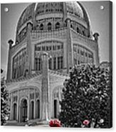 Bahai Temple Wilmette In Black And White Acrylic Print by Rudy Umans