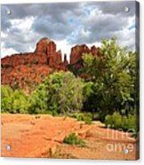 Balance At Cathedral Rock Acrylic Print by Carol Groenen