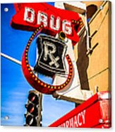 Balboa Pharmacy Drug Store Newport Beach Photo Acrylic Print by Paul Velgos