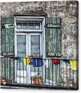 Balcony View Acrylic Print by Brenda Bryant