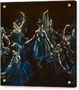 Ballerina Ghosts Acrylic Print by Jani Freimann