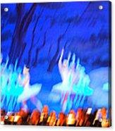 Ballet Dancers Abstract. Acrylic Print by Oscar Williams