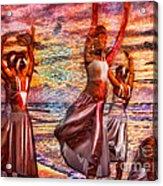 Ballet On The Beach Acrylic Print by Jeff Breiman