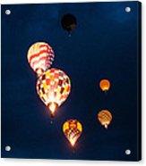 Balloon Glow Acrylic Print by Linda Pulvermacher