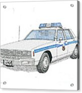 Baltimore City Police Cruiser Acrylic Print by Calvert Koerber