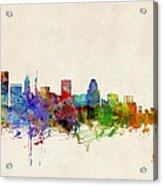 Baltimore Maryland Skyline Acrylic Print by Michael Tompsett