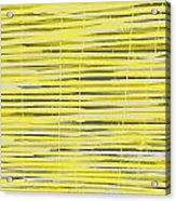 Bamboo Fence - Yellow And Gray Acrylic Print by Saya Studios
