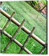 Bamboo Fence Acrylic Print by Brett Price