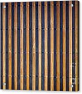 Bamboo Mat Texture Acrylic Print by Tim Hester