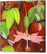 Bananapoka Acrylic Print by Anna Skaradzinska